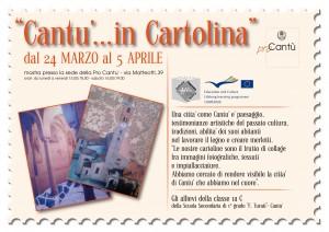 Mostra di cartoline degli alunni della 1^ C della scuola media Filippo Turati di Cantù